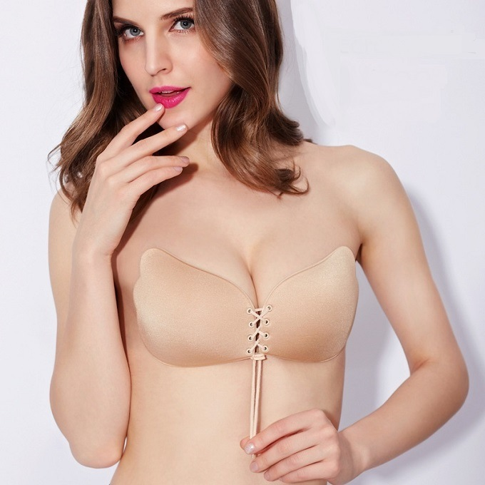 0c67649f715b9 ... Adhesive Stick On Push Up Gel Strapless Backless Invisible bra Nude.  🔍. Bra ...