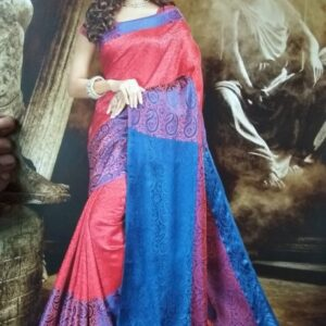 ORIGINAL INDIAN JULAHAA SATVIKA SAREE RED